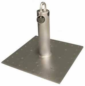 COMMERCIAL GRADE PERMANENT ROOF ANCHOR for LOW SLOPE ROOFS