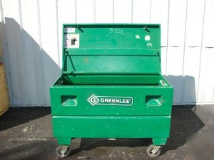 Greenlee Chest with wheels installed