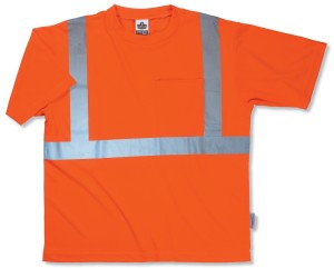 High Visibility Safety Shirt with Reflectors ORANGE