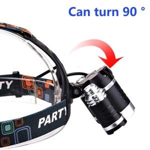 Keku LED High Power Headlamp Rechargeable 90 degrees