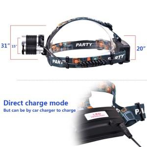 Keku LED High Power Headlamp Rechargeable Battery